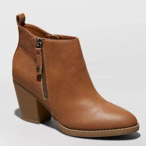 Women's Jameson Faux Leather Double Zip Bootie